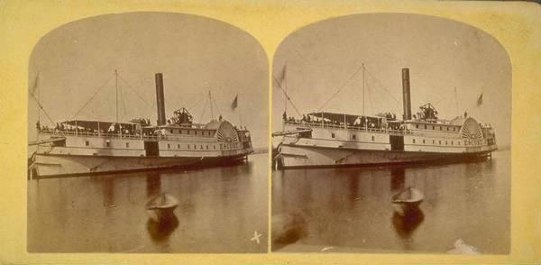 Sidewheel steamer Escort built by George Greenman & Co.