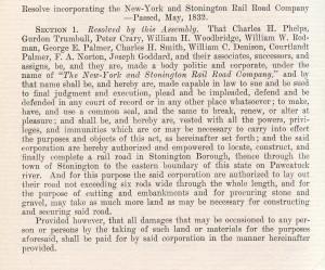 New York and Stonington Rail Road Company Act of Incorporation, 1832 - New York, New Haven & Hartford Railroad Records, Archives & Special Collections, University of Connecticut Libraries