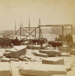 Photograph of the quarry works dock