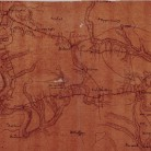 Detail of the French army's map of its route across Connecticut in Bolton