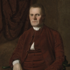 Detail of a painting by Ralph Earl, Roger Sherman, ca. 1775, oil on canvas - Yale University Art Gallery