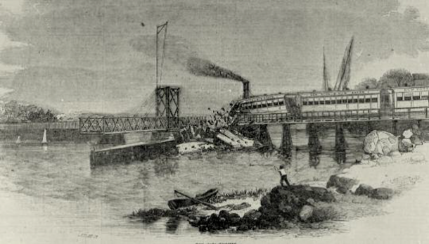 New York and New Haven Railroad train bound from Manhattan