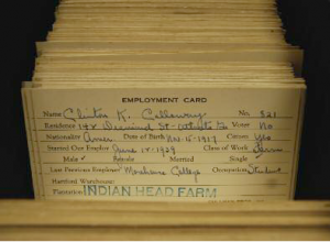 Cullman Bros. employment cards. Clinton Calloway (1917-1999) graduated from Morehouse College in 1941 - Dawn Byron Hutchins
