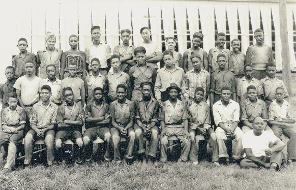 Male students from Virginia and their chaperones, Hartman Tobacco's Camp, Buckland Manchester, 1942 - Dawn Byron Hutchins