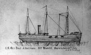 Sketch of the USS Albatross off Mobile, Alabama, September 25, 1863