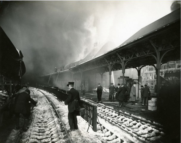 Union Station during the Fire of February 21, 1914