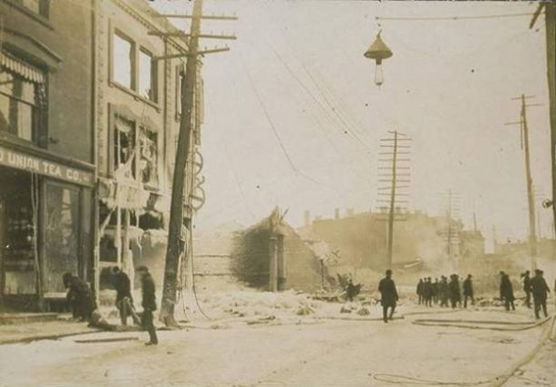 February 2, 1902, a fire broke out at Reid & Hughes dry goods store in Waterbury