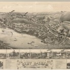 View of East Haddam. Connecticut. And Goodspeed's Landing