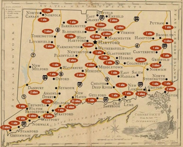 Map of the Freedom Trail Sites