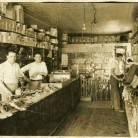 Edward (left) and Thomas (right) Bocchino behind the counter of Bocchino Brothers Shoe Repair