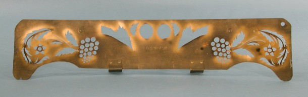 Original brass stencil used for decorating Hitchcock chairs