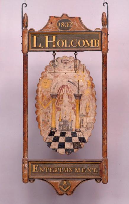 Sign for Holcomb's Inn, 1802