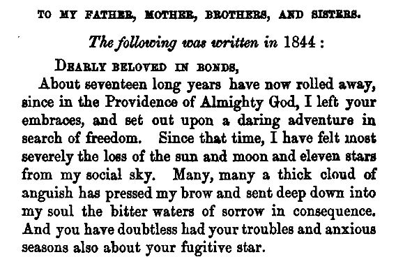 Transcript of a letter by James Pennington to his parents and siblings, 1844 from The Fugitive Blacksmith or, Events in the History of James W.C. Pennington