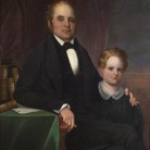 Dr. Josiah Gale Beckwith and son, artist unknown, ca. 1845