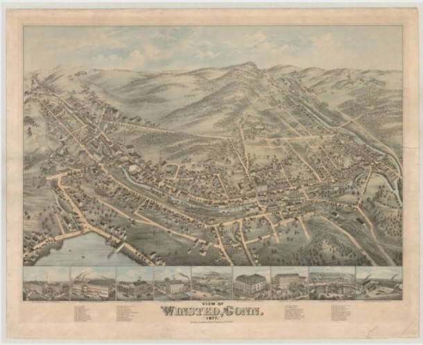 View of Winsted, Conn,1877