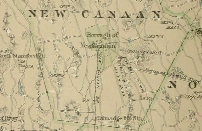 New canaan connecticut map