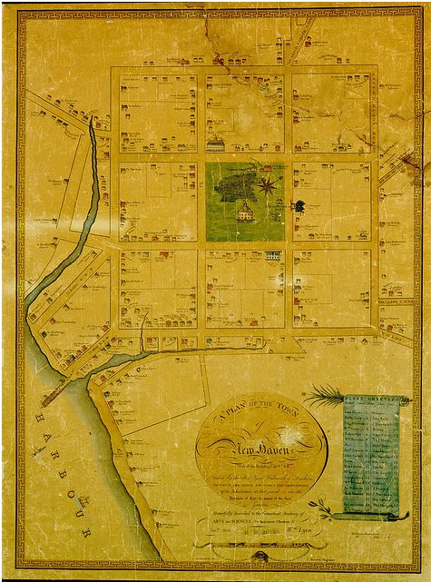 A Plan of the Town of New Haven with All the Buildings in 1748