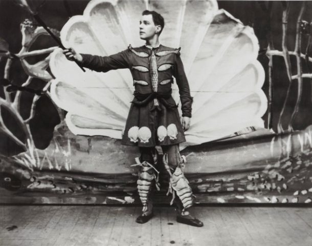 Chick Austin as the magician, The Great Osram, in 1944