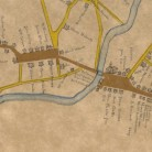 Detail indicating the homes of the Chaffee and Loomis families