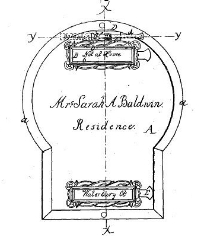 Sarah A. Baldwin, Door Plate and Card Receiver, Patent Number 36,388 - September 9, 1862, Waterbury