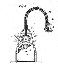 Mary F. Bishop, Means for Operating Egg Beaters, Patent Number 384,674 - June 19, 1888, Bridgeport