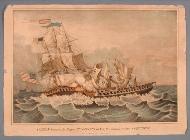 Combat between the Frigate Constitution and the British Frigate Guerriere