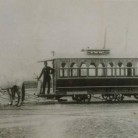 The Hartford & Wethersfield Horse Railroad's first horse car, 1895.