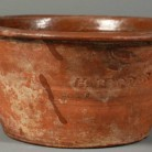 Redware Pudding Pot, Hervey Brooks, Goshen