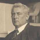 Detail of Julian Alden Weir from a portrait of Weir in his studio, ca. 1910