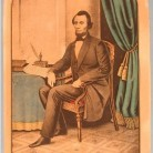Abraham Lincoln. Hand-colored lithograph by E.B. & E.C. Kellogg