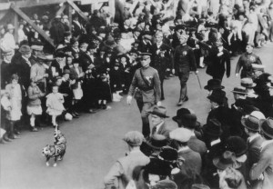Stubby leading a Legion parade