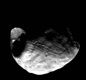 Viking 1 Orbiter global view of the Martian satellite Phobos