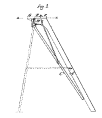 Emily M. Norton, Improvement in Step Ladders, Patent Number 123,287 - January 30, 1872, Bridgeport