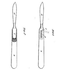 Mathilde Schott, Surgical Knife, Patent Number 431,153 - July 1, 1890, New Haven