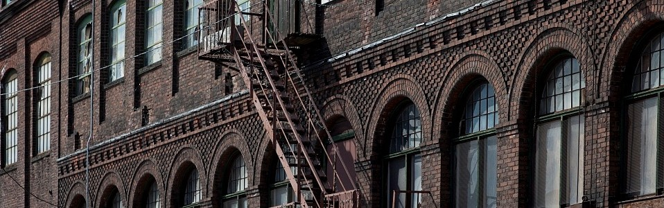 Historic building detail in warehouse district, Bridgeport - Library of Congress, Prints and Photographs Division, Carol M. Highsmith Archive