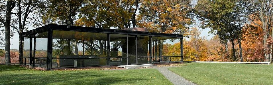 Fall view of Philip Johnson's Glass House, New Canaan - Library of Congress, Prints and Photographs Division, Carol M. Highsmith Archive