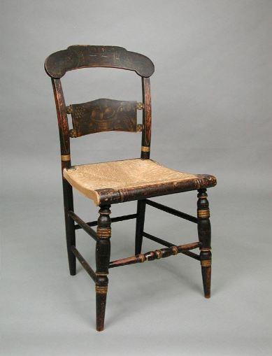 Side chair made by Lambert Hitchcock, 1825-1832