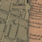 Detail of the Front Street area from the map, Hartford, 1869