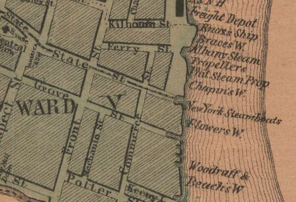 Hartfords sex trade prostitutes and politics detail of the front street area from the map hartford 1869 sciox Images