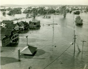 Flooding in Middletown. September 22, 1938