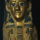 Gilded Mummy Mask, Ptolemic Period 305-30 BCE, Egyptian