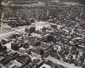 Church Street project area and New Haven Green, Air-o-graph ca. 1959