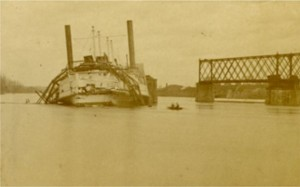 Aftermath of the Collision between the City of Hartford and the Middletown RR Bridge