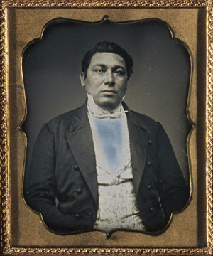 Amos Haskins, a Wampanoag Indian, sailed on six whaling voyages from 1839 to 1861