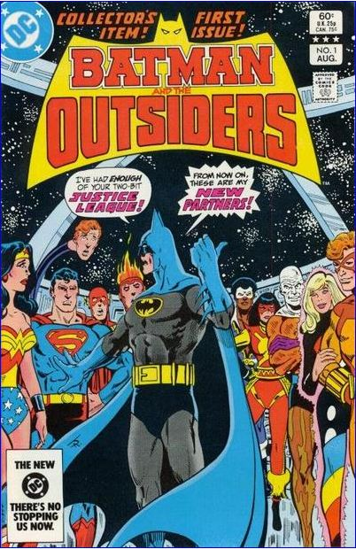 Batman and the Outsiders #1, cover art by Jim Aparo