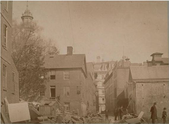 Demolition on Gold Street, Hartford, May 3, 1890