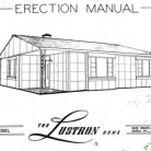 Erection manual for the model 2 Lustron Home