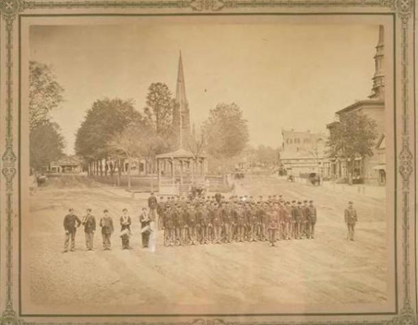 Muster of Civil War troops, Main Street, New Britain, May 11, 1861