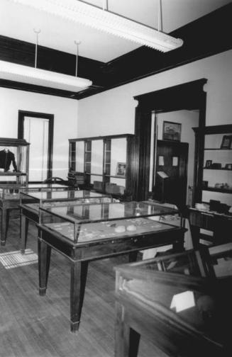 Former main reading room now historical room, Southington Public Library. Photograph ca. 1988 - National Register of Historic Places and the Connecticut Historical Commission