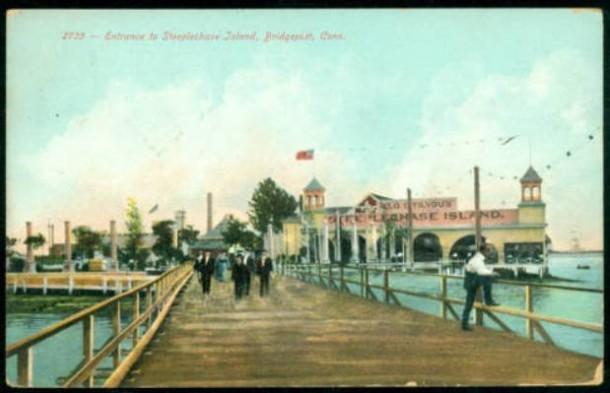 Entrance to Steeplechase Island, Bridgeport
